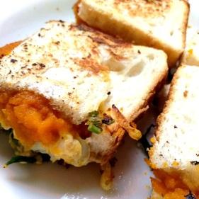 Hot pumpkin sandwich