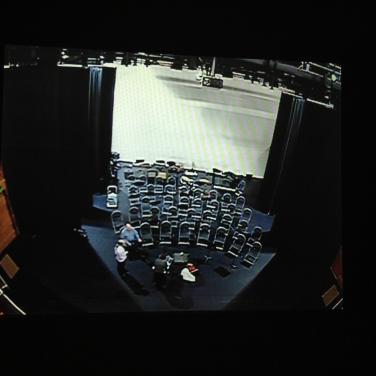 camera shot in the theatre